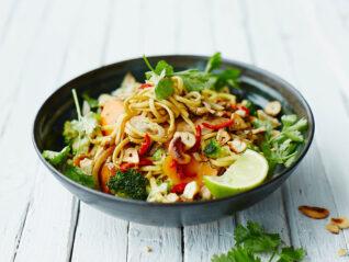 Pad thai, gebakken noedels
